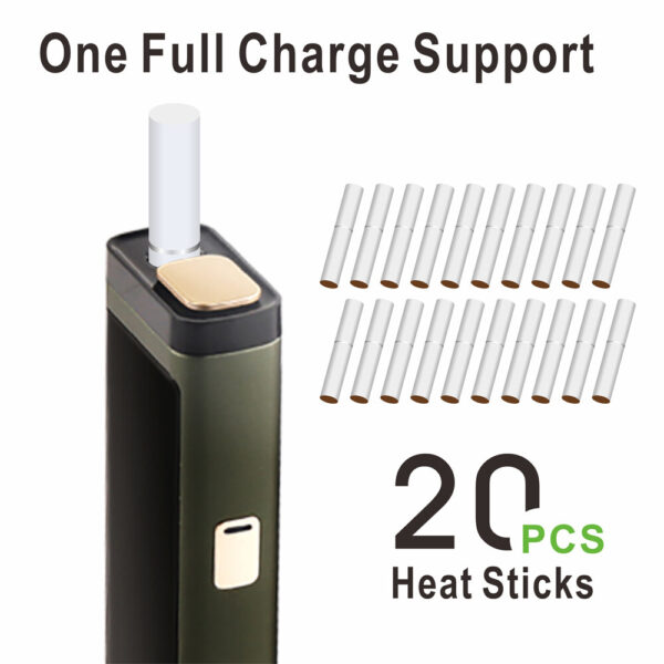 (Army Green) LAMBDA T3 Heat Not Burn Tobacco Heating Device, Compatible with All IQOS Heatsticks in dubai