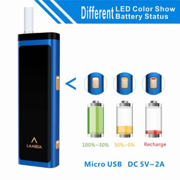 (Blue) LAMBDA T3 Heat Not Burn Tobacco Heating Device, Compatible with All IQOS Heatsticks in Dubai